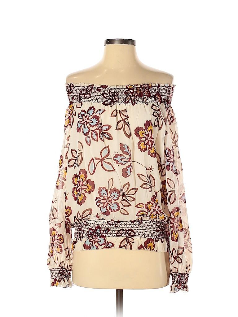 Tory Burch Women Long Sleeve Silk Top Size 2