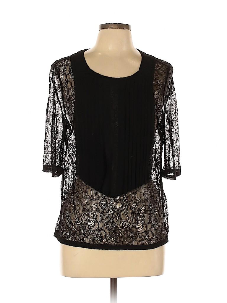 BCBGMAXAZRIA Women 3/4 Sleeve Blouse Size L