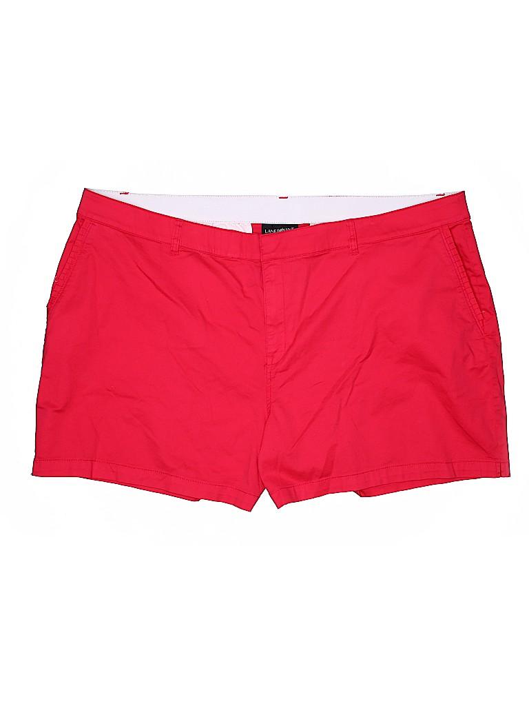 Lane Bryant Women Khaki Shorts Size 28 (Plus)