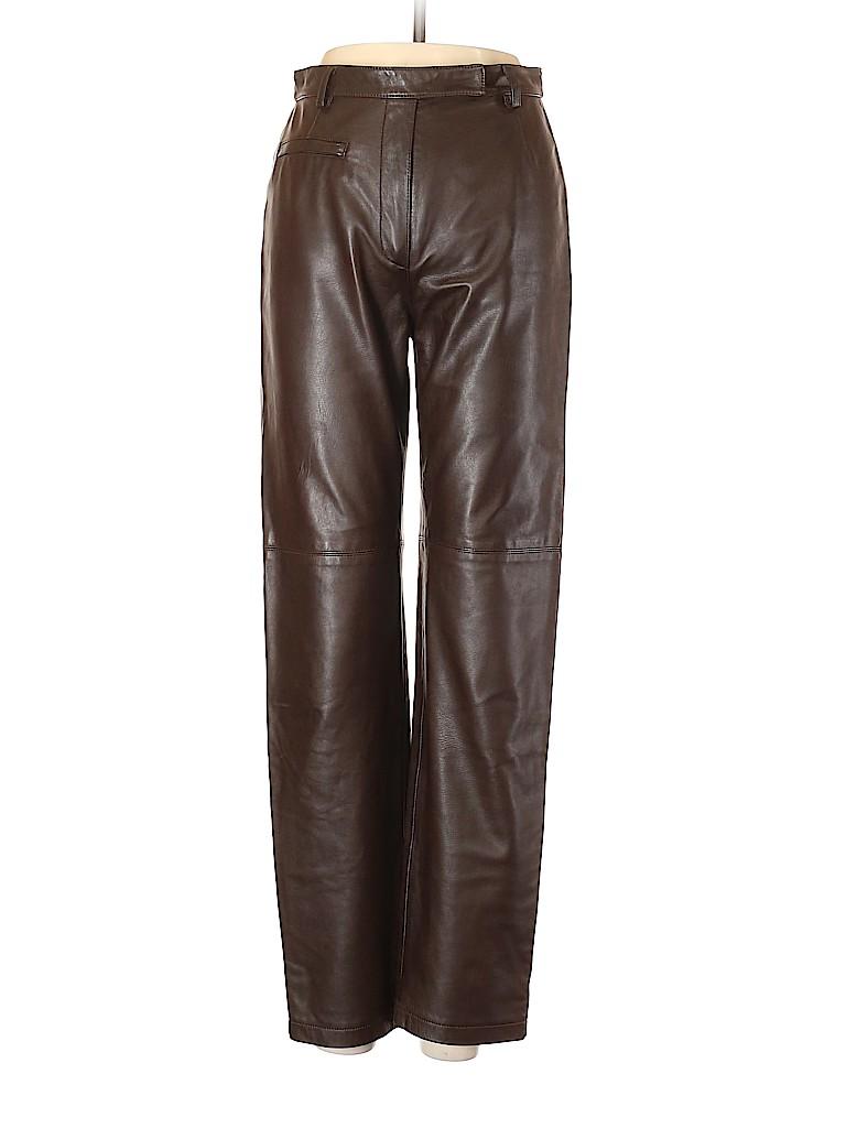 Lafayette 148 New York Women Leather Pants Size 4