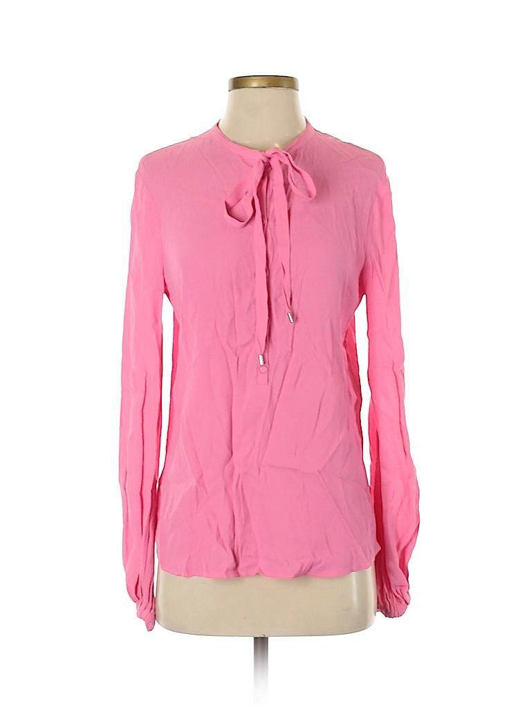 Diane von Furstenberg Women Long Sleeve Blouse Size 2