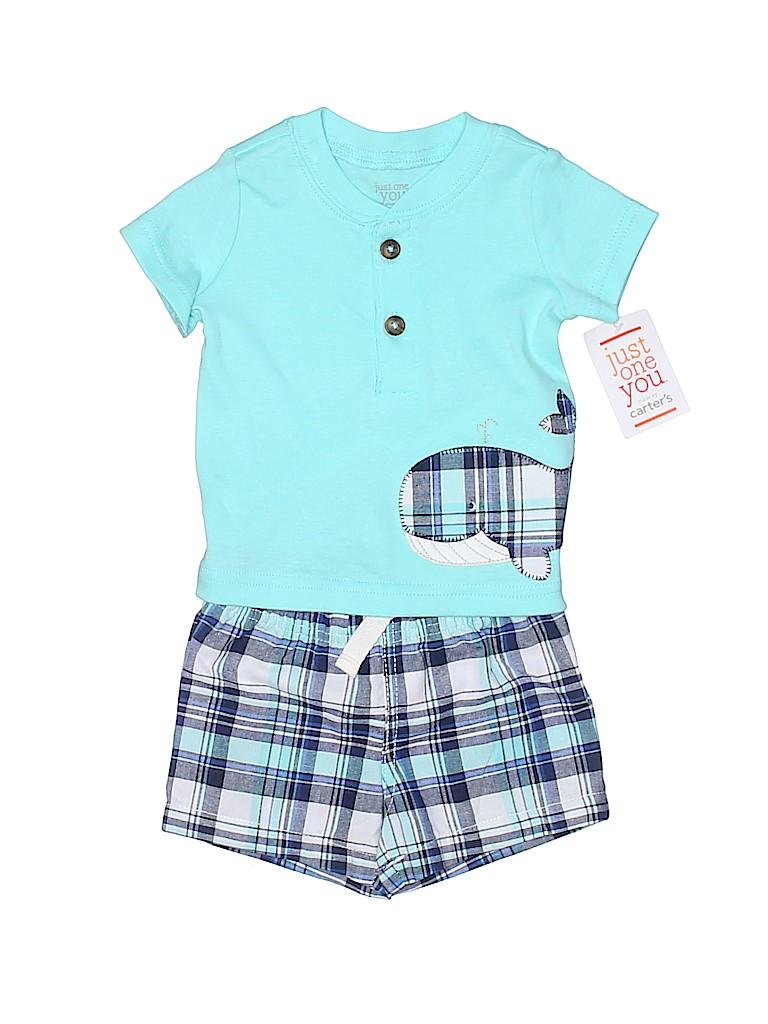 Carter's Boys Short Sleeve Henley Size 3 mo