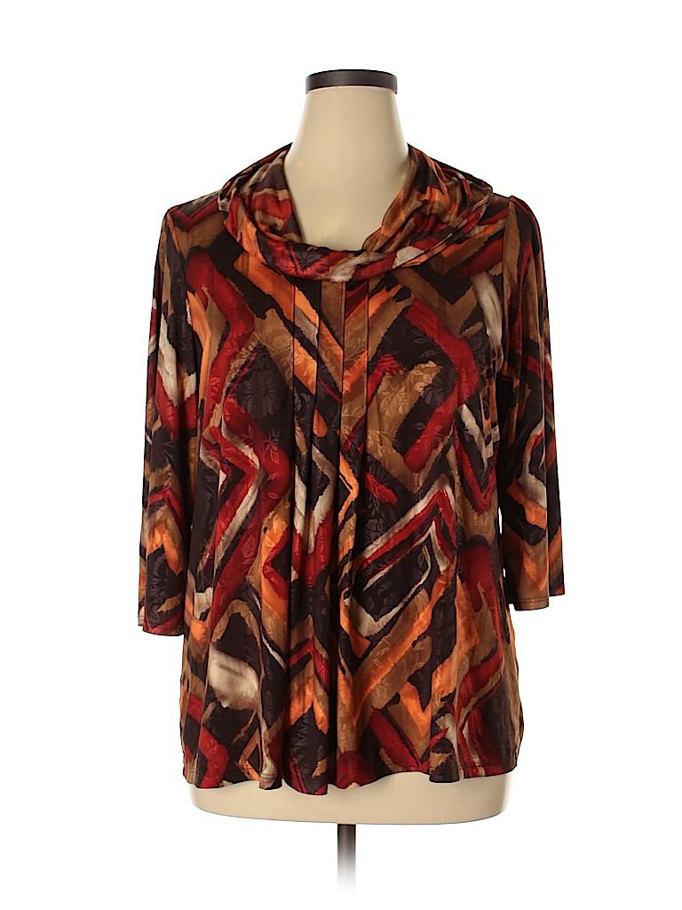DressBarn Women 3/4 Sleeve Top Size 1X (Plus)