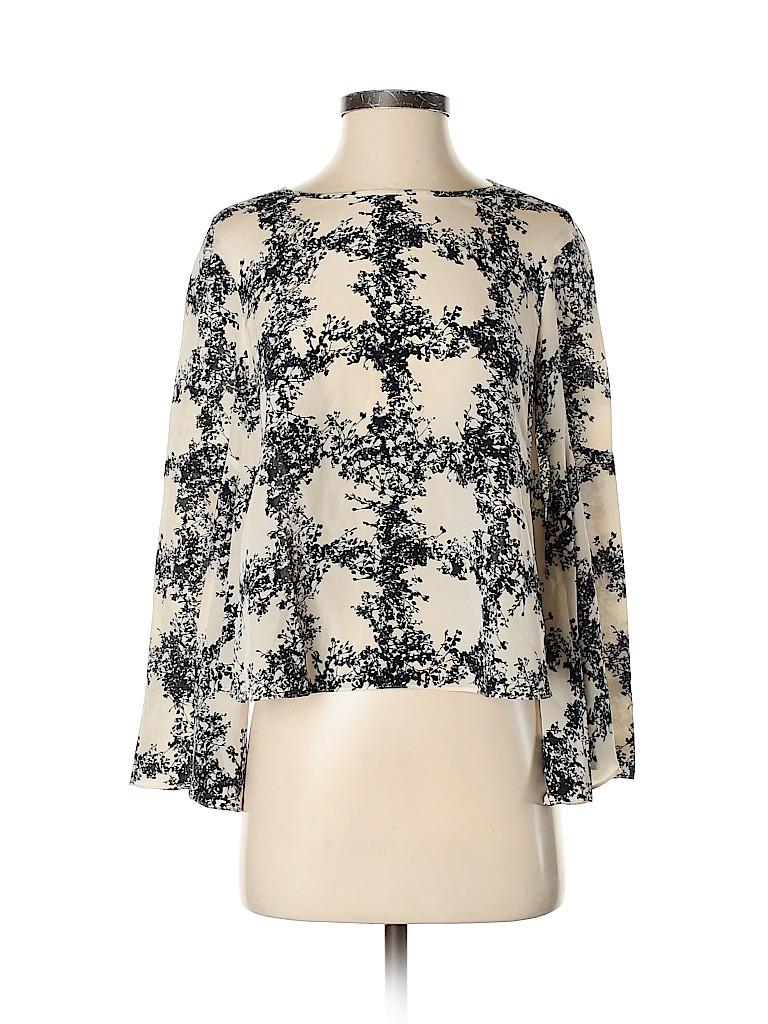 Club Monaco Women Long Sleeve Silk Top Size XS