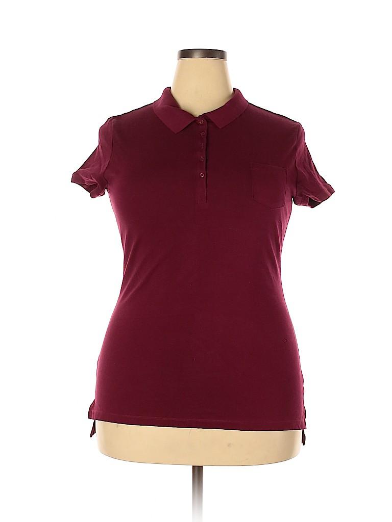 No Boundaries Women Short Sleeve Polo Size XXL