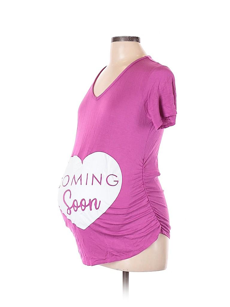 Assorted Brands Women Short Sleeve Top Size L (Maternity)