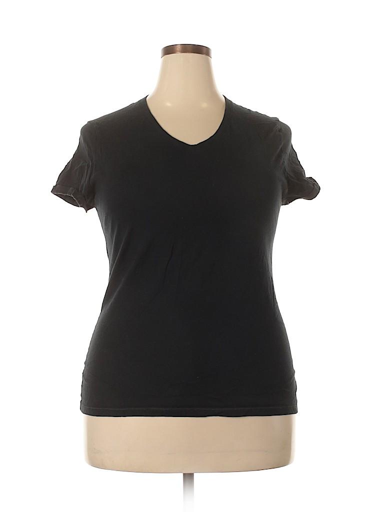 Just My Size Women Short Sleeve T-Shirt Size 16 (Plus)