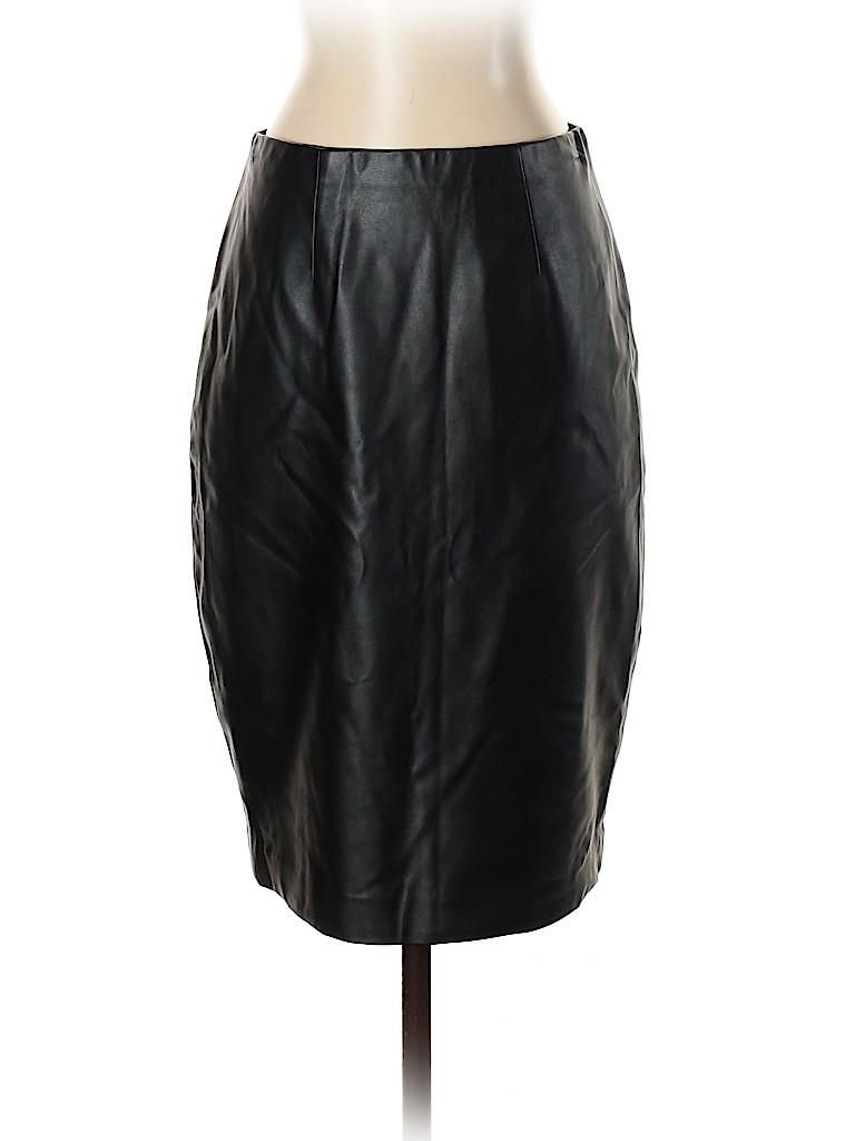 Ann Taylor Women Faux Leather Skirt Size 0