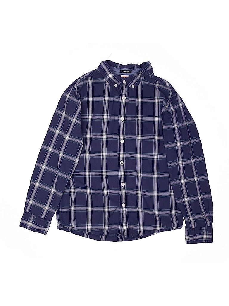 Gymboree Boys Long Sleeve Button-Down Shirt Size 10 - 12