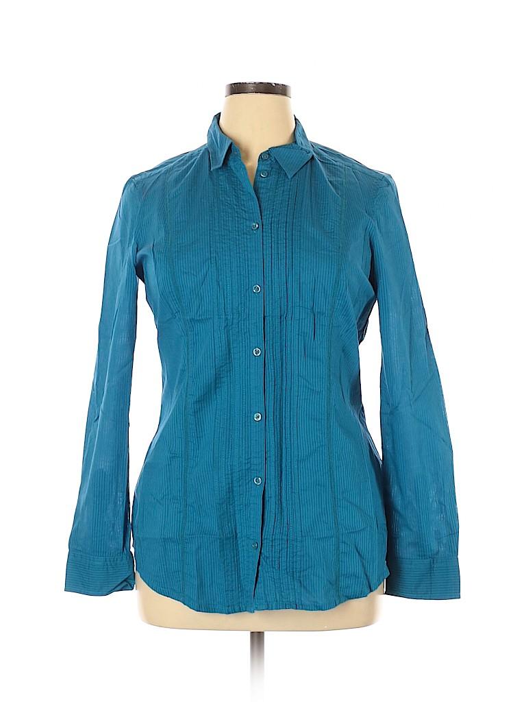 Assorted Brands Women Long Sleeve Button-Down Shirt Size 14