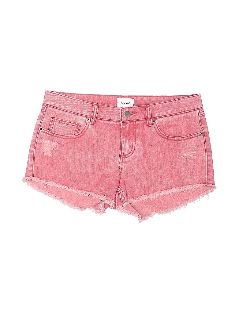 RVCA Women Denim Shorts 28 Waist