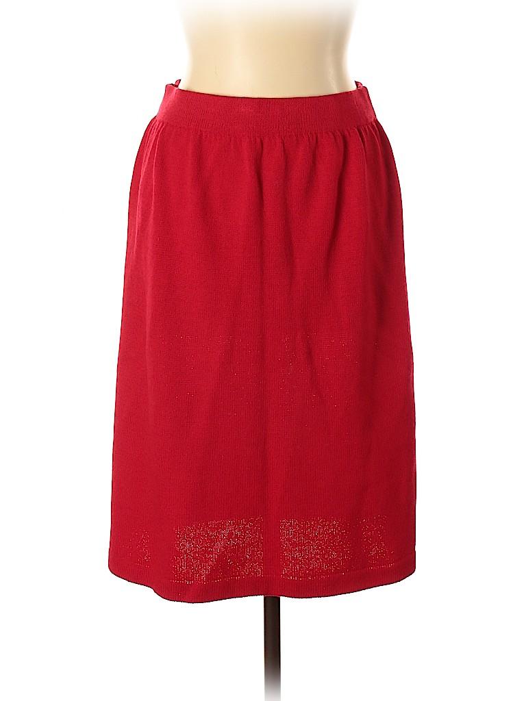 St. John Collection Women Denim Skirt Size 12