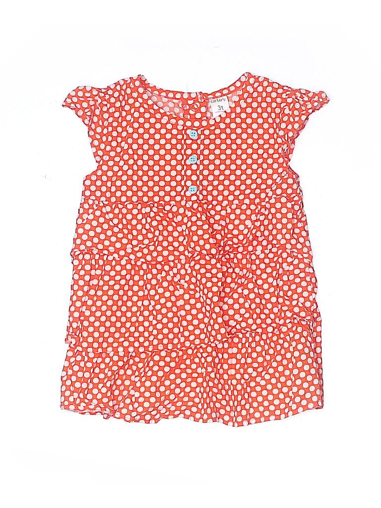Carter's Girls Short Sleeve Blouse Size 3T