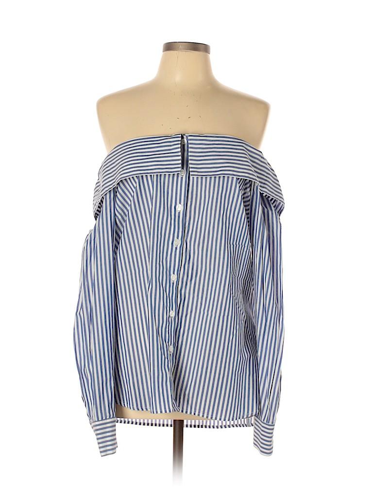 Bardot Women Long Sleeve Button-Down Shirt Size 10