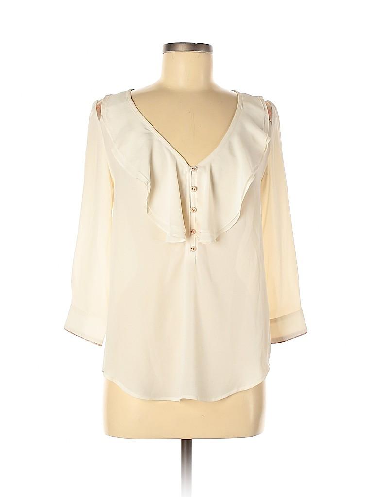 HD in Paris Women Long Sleeve Blouse Size 38 (FR)