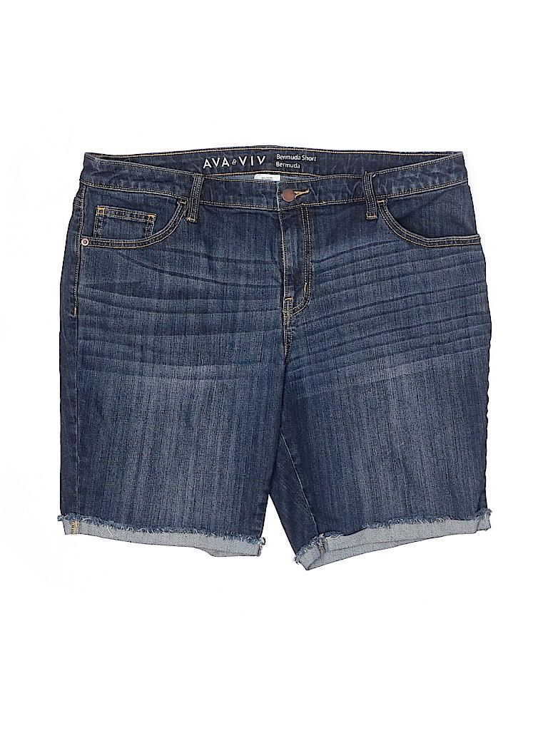 Ava & Viv Women Denim Shorts Size 18 (Plus)