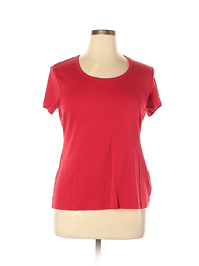 DressBarn Women Short Sleeve T-Shirt Size XL
