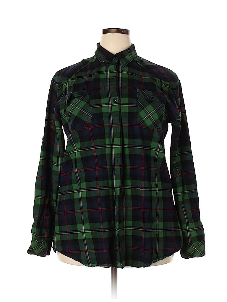 Matchstick Women Long Sleeve Button-Down Shirt Size XXL
