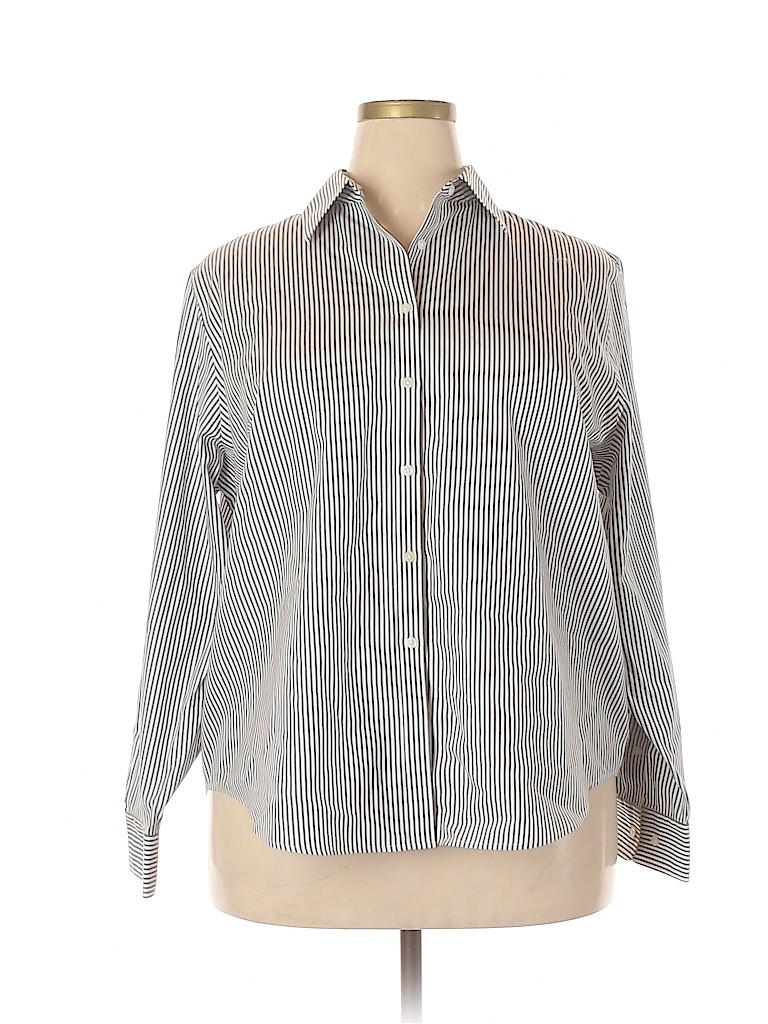 Jones New York Women Long Sleeve Button-Down Shirt Size 2X (Plus)