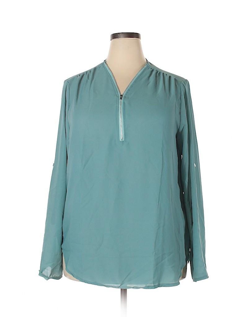 Unbranded Women Long Sleeve Blouse Size 5X (Plus)