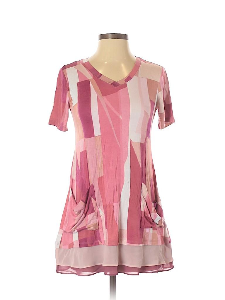 LOGO by Lori Goldstein Women Short Sleeve Top Size XXS