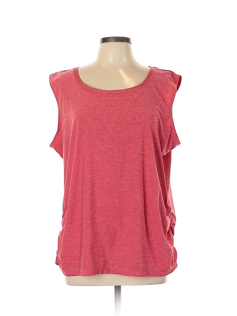 Eddie Bauer Women Short Sleeve Top Size 2XL