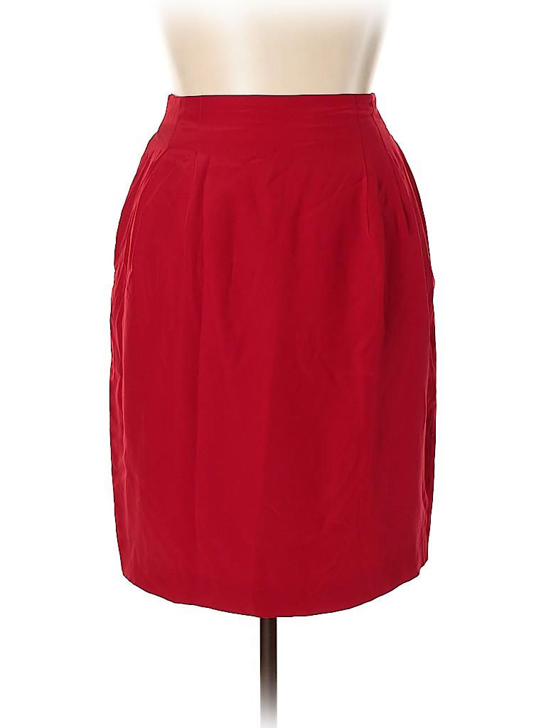 Diane von Furstenberg Women Silk Skirt Size 16