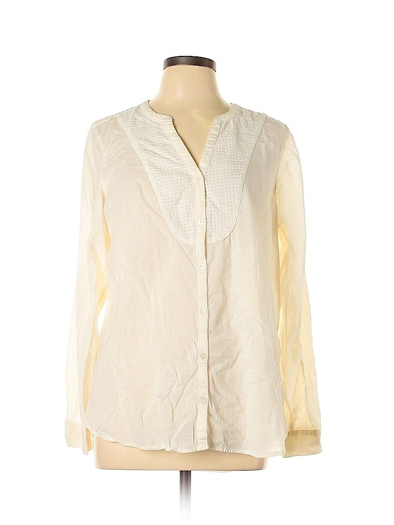 Gap Outlet Women Long Sleeve Button-Down Shirt Size L