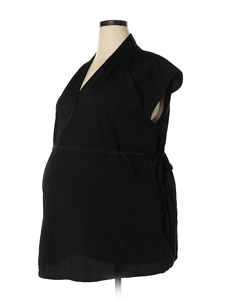Liz Lange Maternity Women Short Sleeve Blouse Size XXL (Maternity)