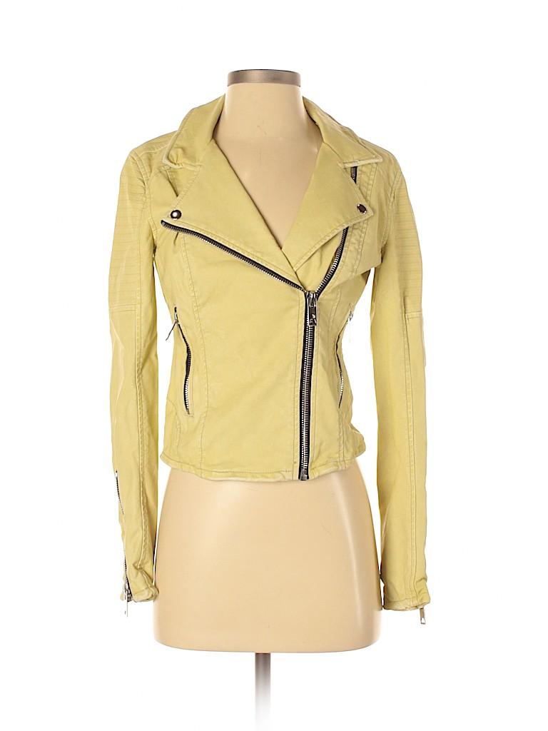 Blank NYC Women Faux Leather Jacket Size XS