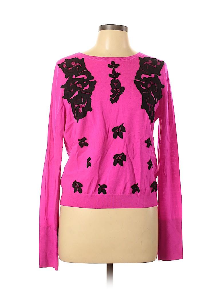 Diane von Furstenberg Women Wool Pullover Sweater Size L