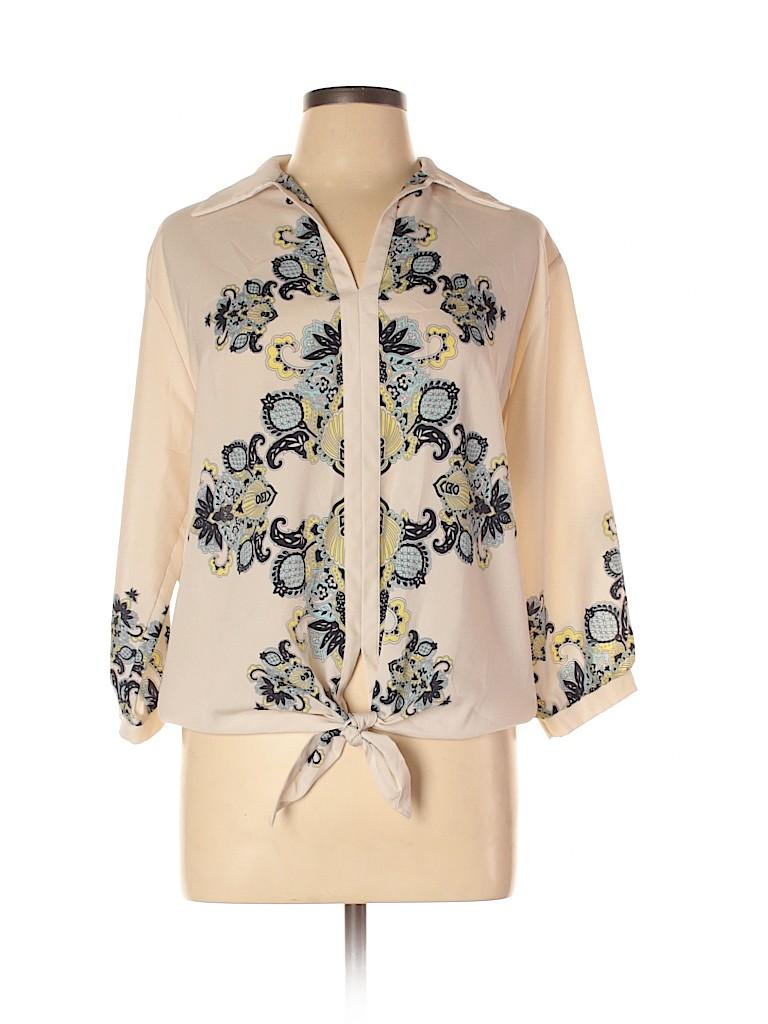 Atina Cristina Women Long Sleeve Blouse Size L