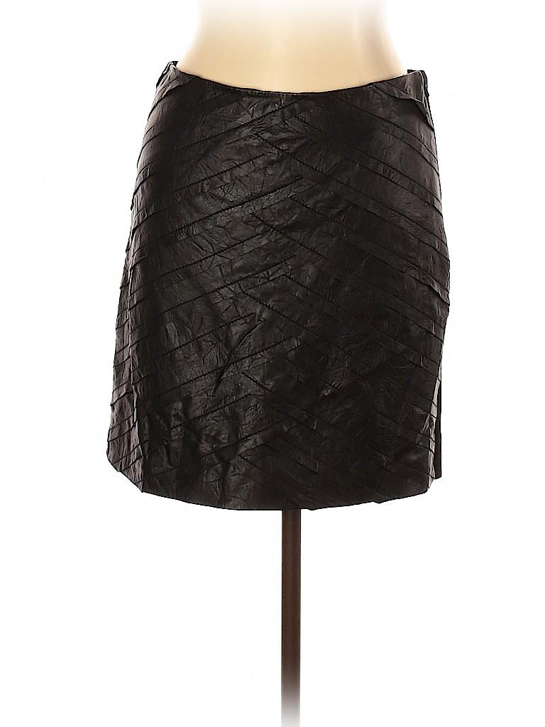 Catherine Malandrino Women Leather Skirt Size 10