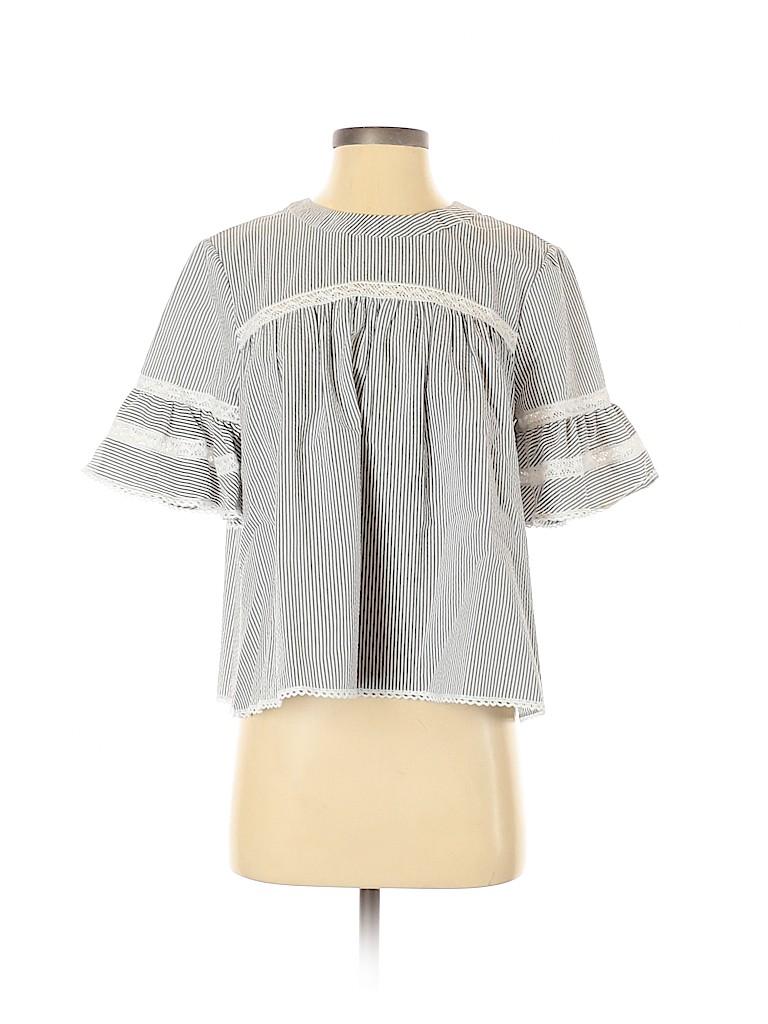 Jonathan Simkhai Women Short Sleeve Blouse Size S