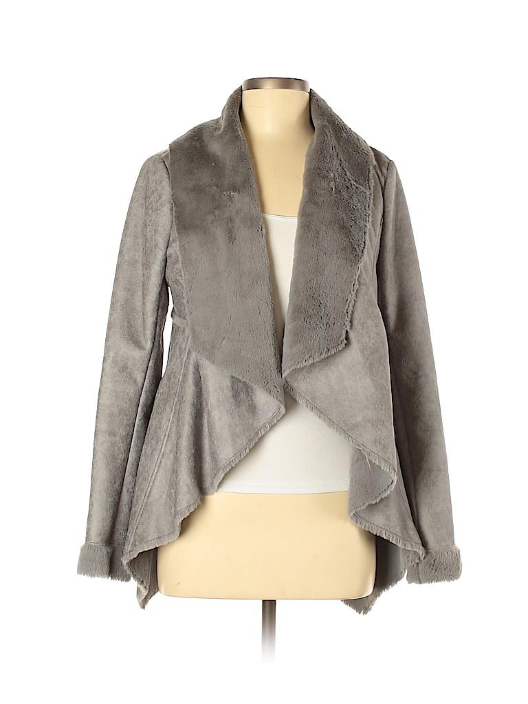 BNCI by Blanc Noir Women Faux Fur Jacket Size M