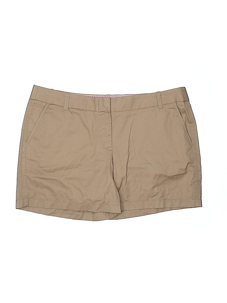 J. Crew Women Khaki Shorts Size 16