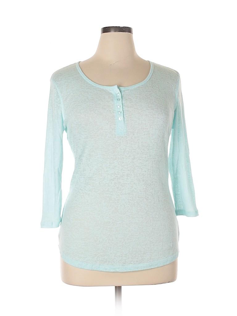 No Boundaries Women 3/4 Sleeve Henley Size XL
