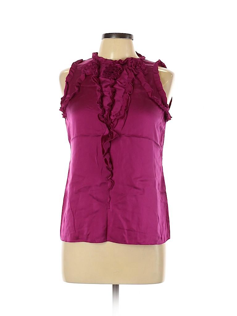 Elie Tahari Women Sleeveless Silk Top Size M