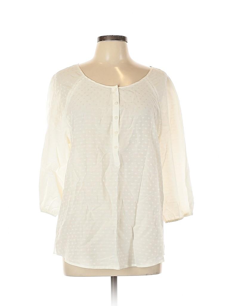 Ann Taylor Women 3/4 Sleeve Blouse Size L