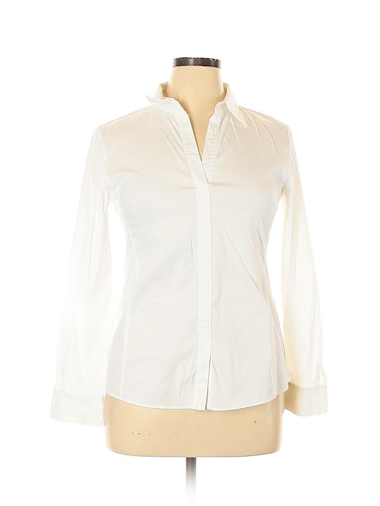 Lafayette 148 New York Women Long Sleeve Top Size 14