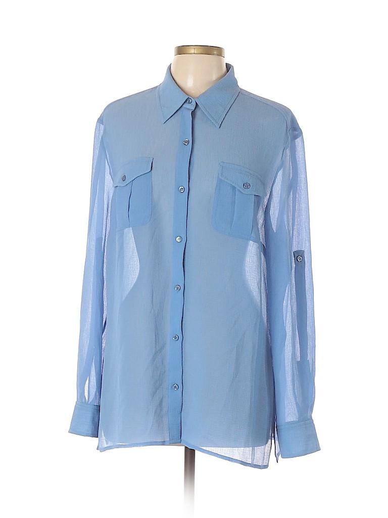 Evan Picone Women Long Sleeve Blouse Size XL