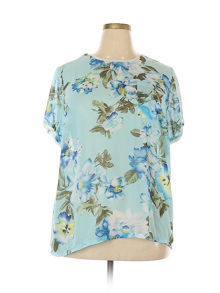 Woman Within Women Short Sleeve Blouse Size 18 (L) (Plus)