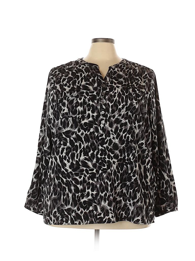 Croft & Barrow Women Long Sleeve Blouse Size 3X (Plus)