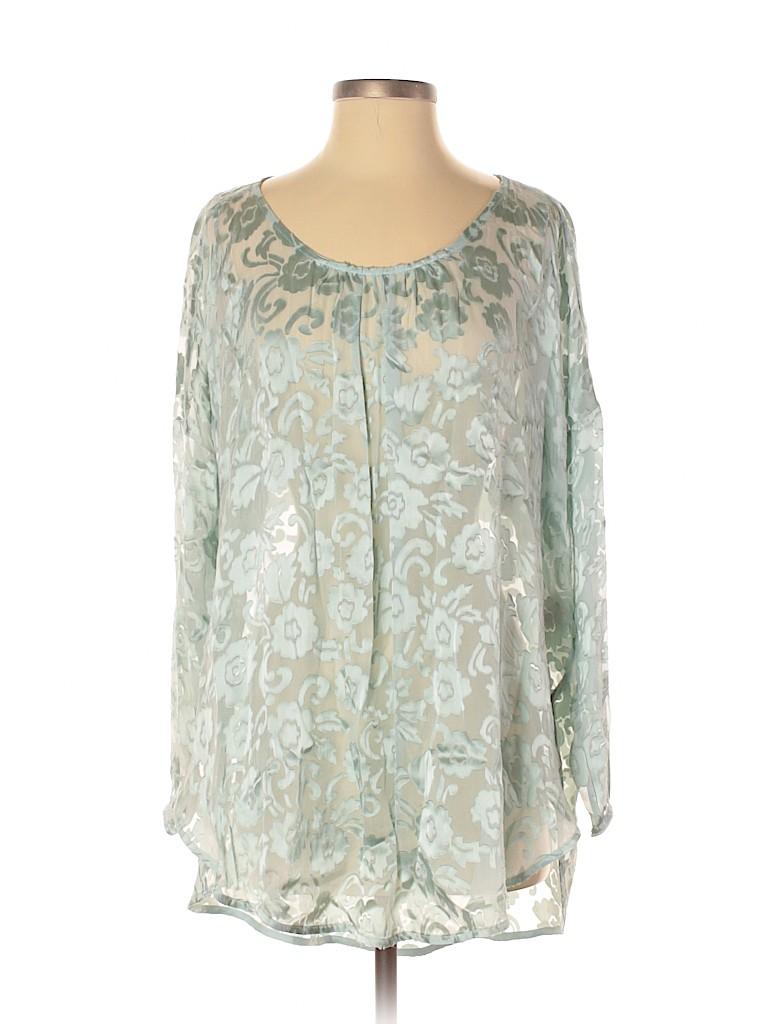 Calypso St. Barth Women Long Sleeve Blouse Size S
