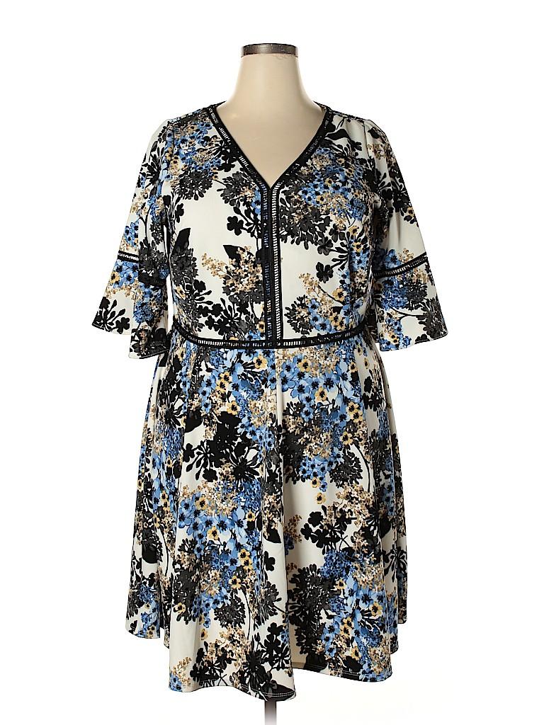 Lane Bryant Women Casual Dress Size 16 (Plus)