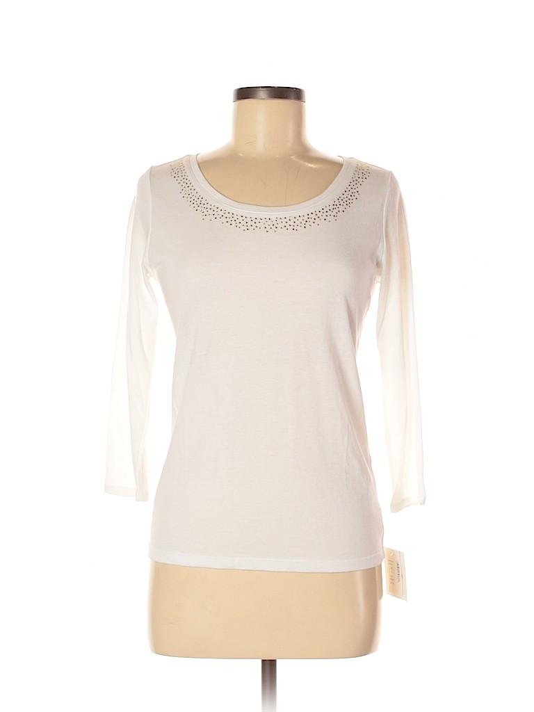 Ellen Tracy Women 3/4 Sleeve T-Shirt Size S