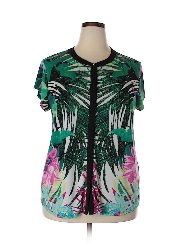 Dana Buchman Women Short Sleeve Top Size XXL
