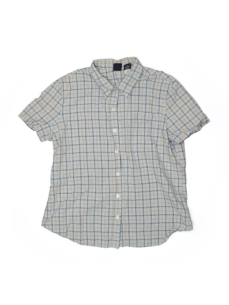 Gap Boys Short Sleeve Button-Down Shirt Size L (Youth)