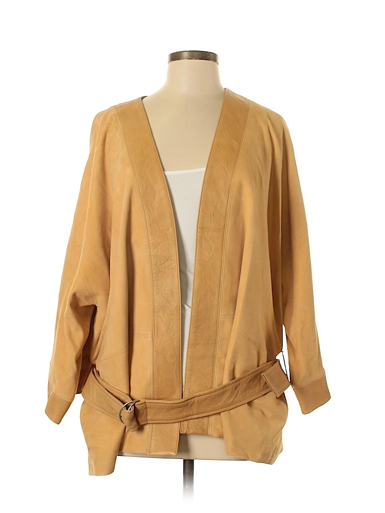 Gap Women Leather Jacket Size XL