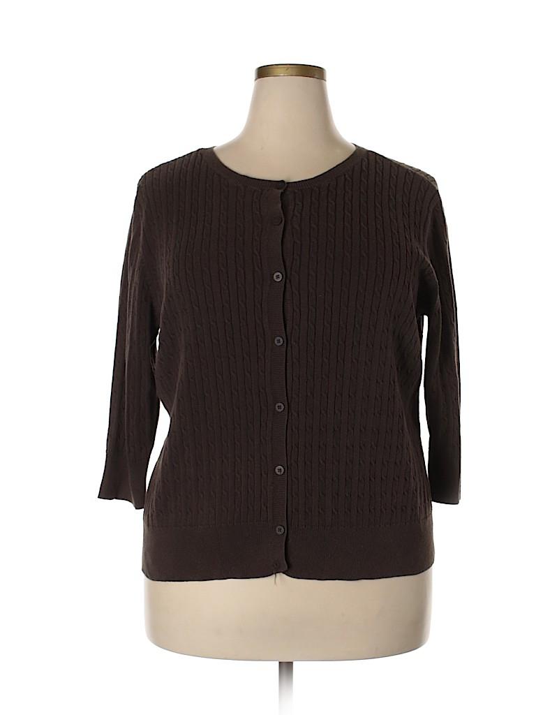 Lane Bryant Women Cashmere Cardigan Size 18 (Plus)